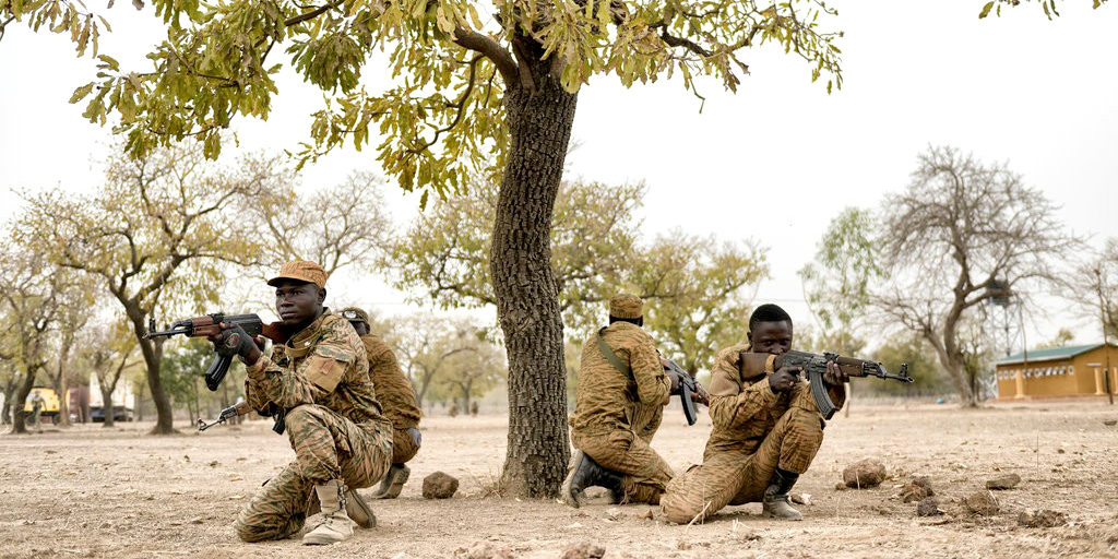 New York Times depiction of Burkina Faso soldiers.