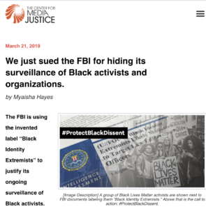 Image result for 'The FBI Appears to Be Engaged in a Modern-Day Version of COINTELPRO'