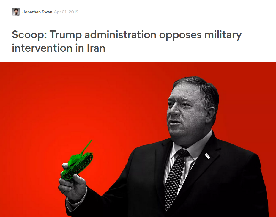 Axios: Scoop: Trump administration opposes military intervention in Iran