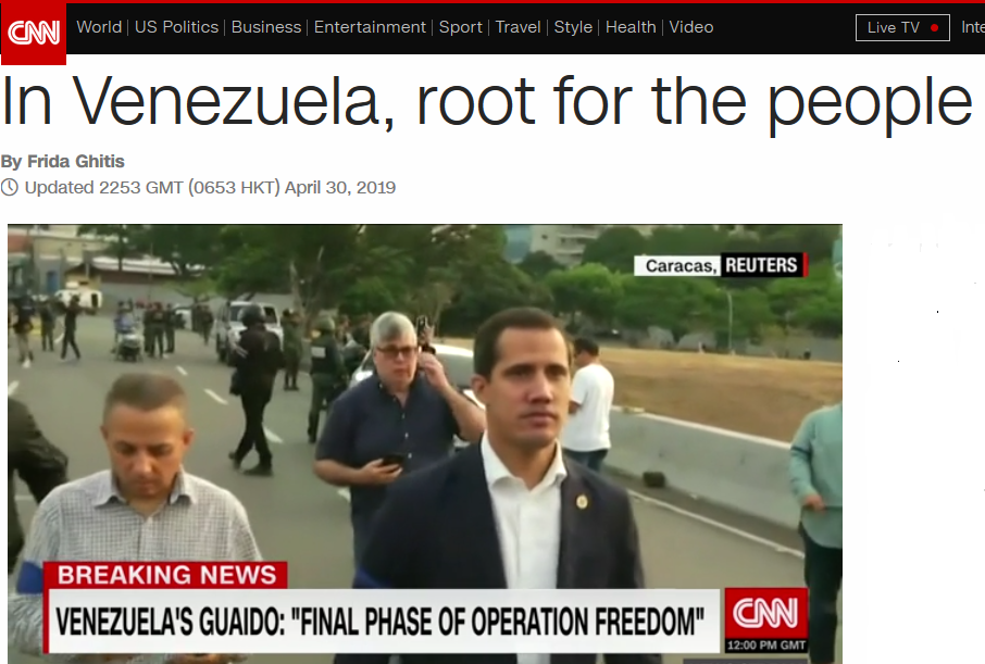 CNN: In Venezuela, Root for the People
