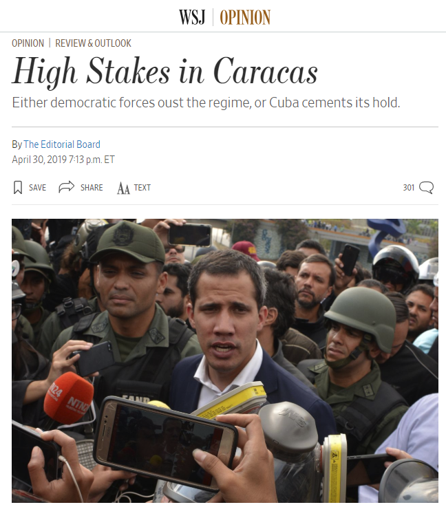 WSJ: High Stakes in Caracas