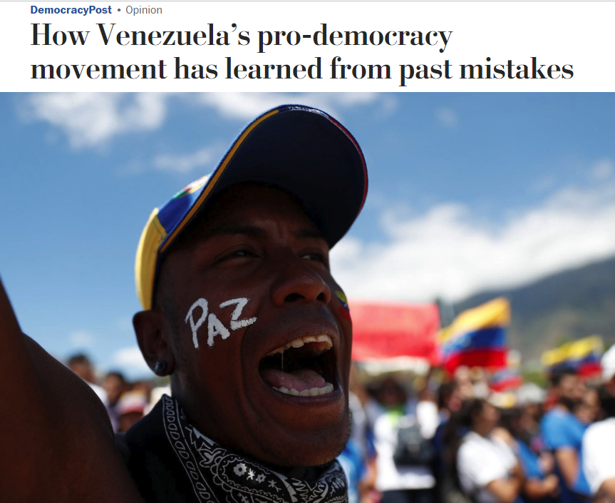 WaPo: How Venezuela's Pro-Democracy Movement Has Learned From Past Mistakes