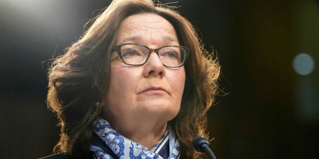 Depiction of Gina Haspel in Wall Street Journal
