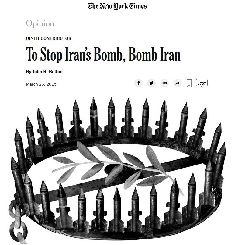 New York Times: To Stop Iran's Bomb, Bomb Iran