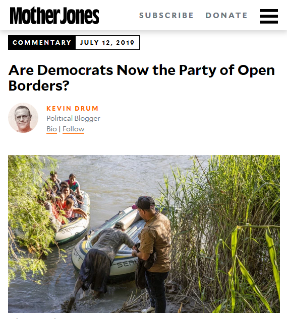 MoJo: Are Democrats Now the Party of Open Borders?