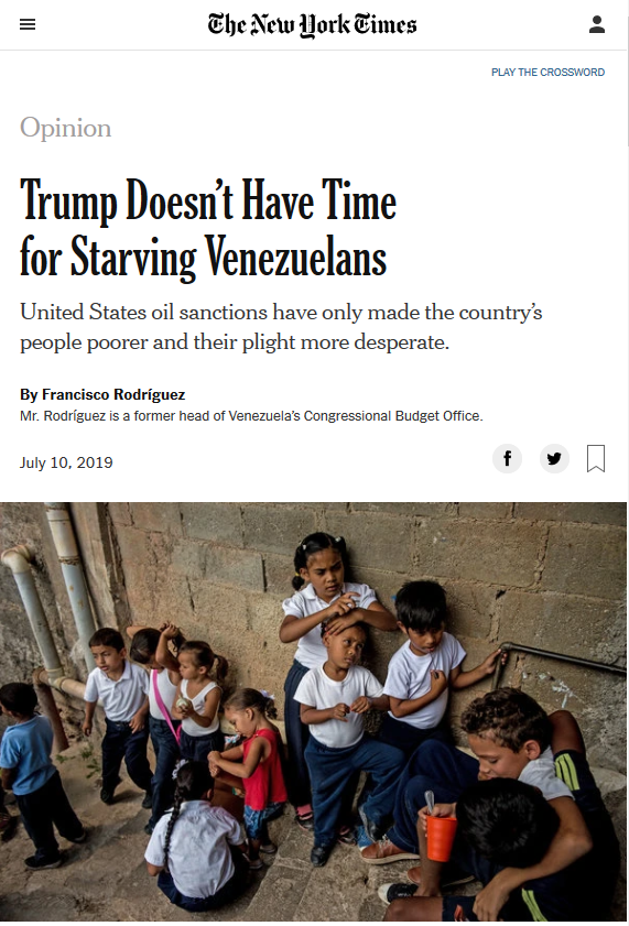 NYT: Trump Doesn't Have Time for Starving Venezuelans