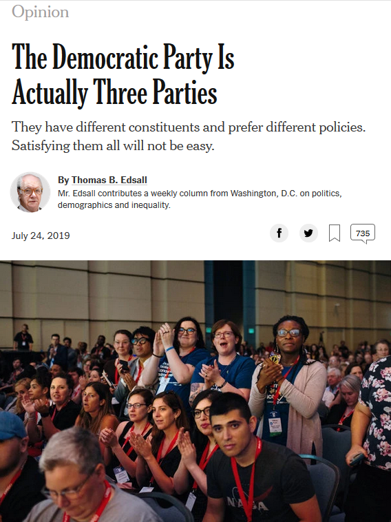 NYT: The Democratic Party Is Actually Three Parties