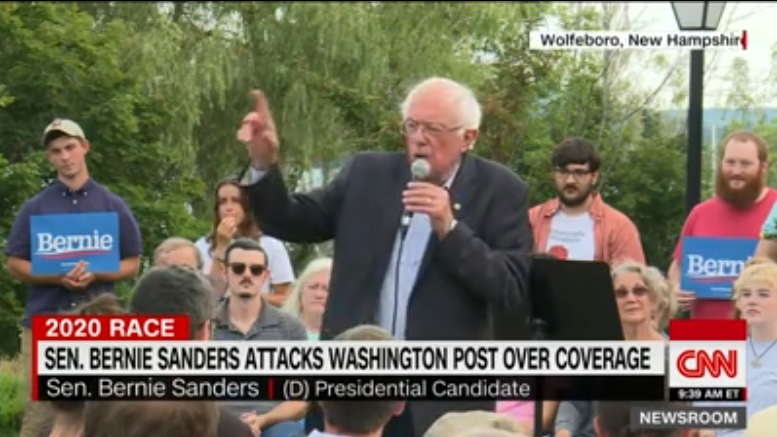Here's the Evidence Corporate Media Say Is Missing of WaPo Bias Against Sanders