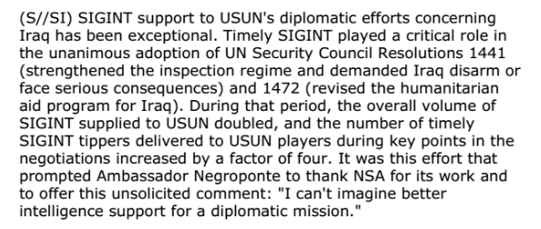 NSA document on UN spying