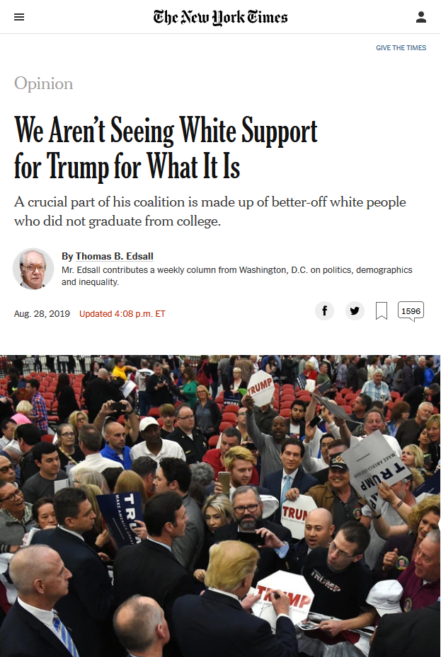 NYT: We Aren't Seeing White Support for Trump for What It Is