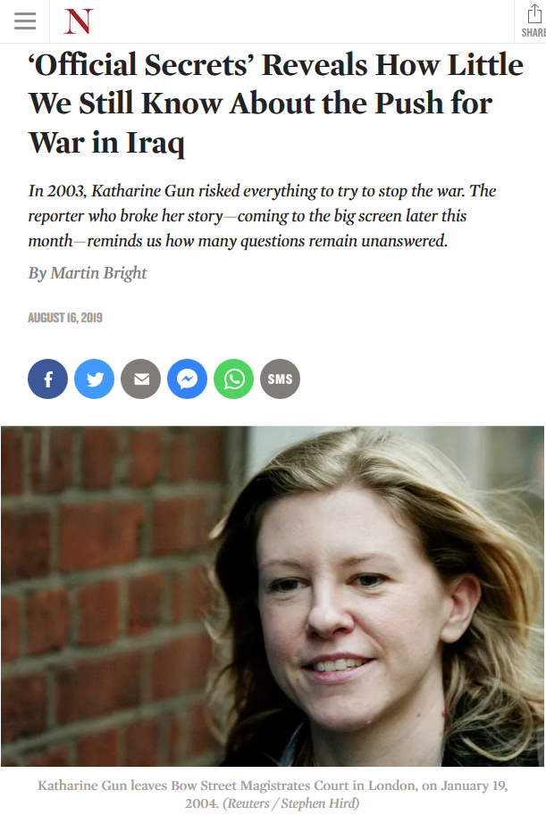 Nation: 'Official Secrets' Reveals How Little We Still Know About the Push for War in Iraq
