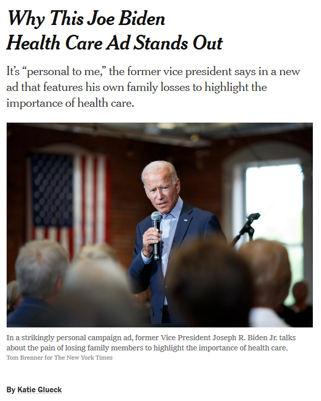 Biden invokes family tragedy to campaign against Medicare