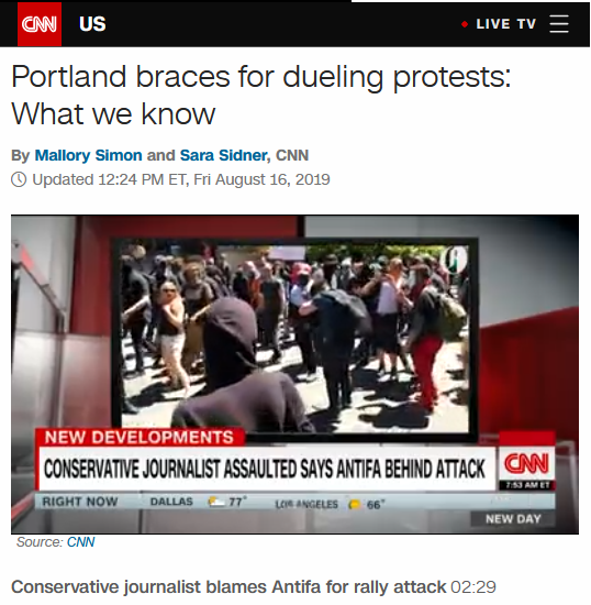 CNN: Portland braces for dueling protests: What we know