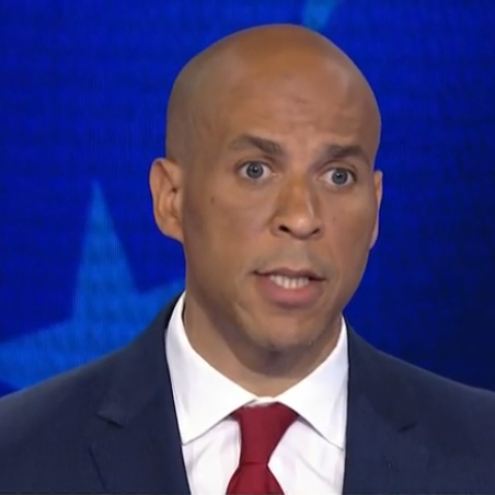 Cory Booker in the first Democratic debate