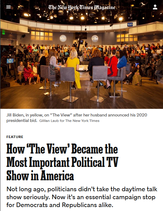 NYT: How 'The View' Became the Most Important Political TV Show in America