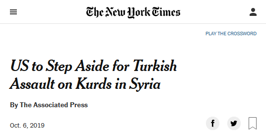 NYT: US to Step Aside for Turkish Assault on Kurds in Syria