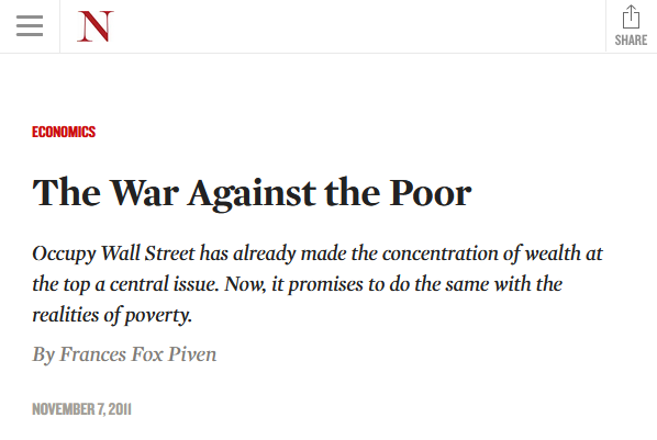 Nation: The War Against the Poor