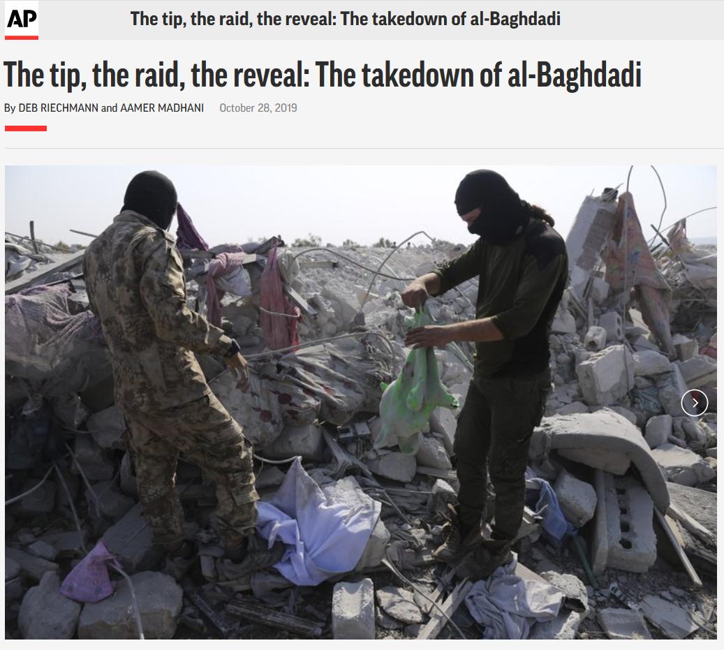 AP: The tip, the raid, the reveal: The takedown of al-Baghdadi