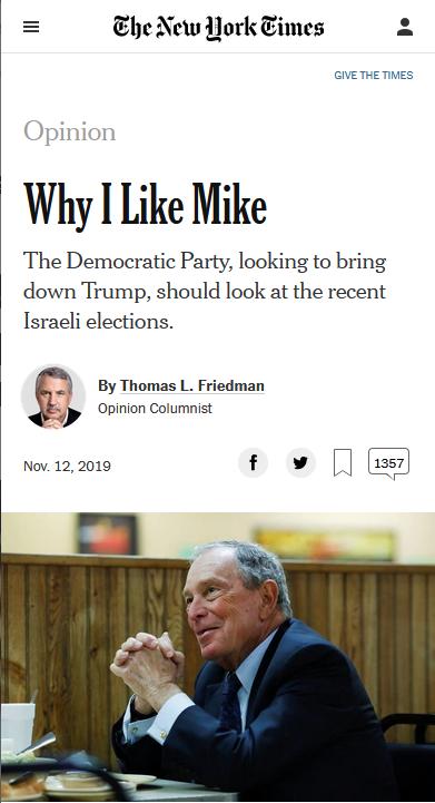 NYT: Why I Like Mike