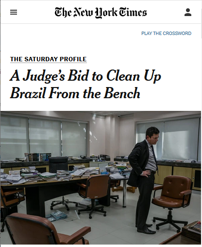 NYT: A Judge's Bid to Clean Up Brazil From the Bench