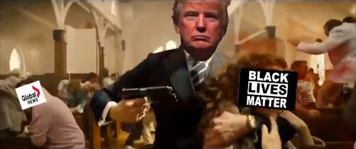 Image from Trump film parody