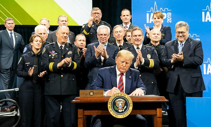 Trump with police chiefs