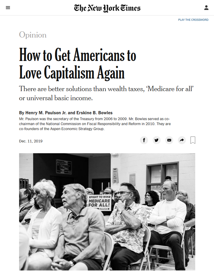 NYT: How to Get Americans to Love Capitalism Again