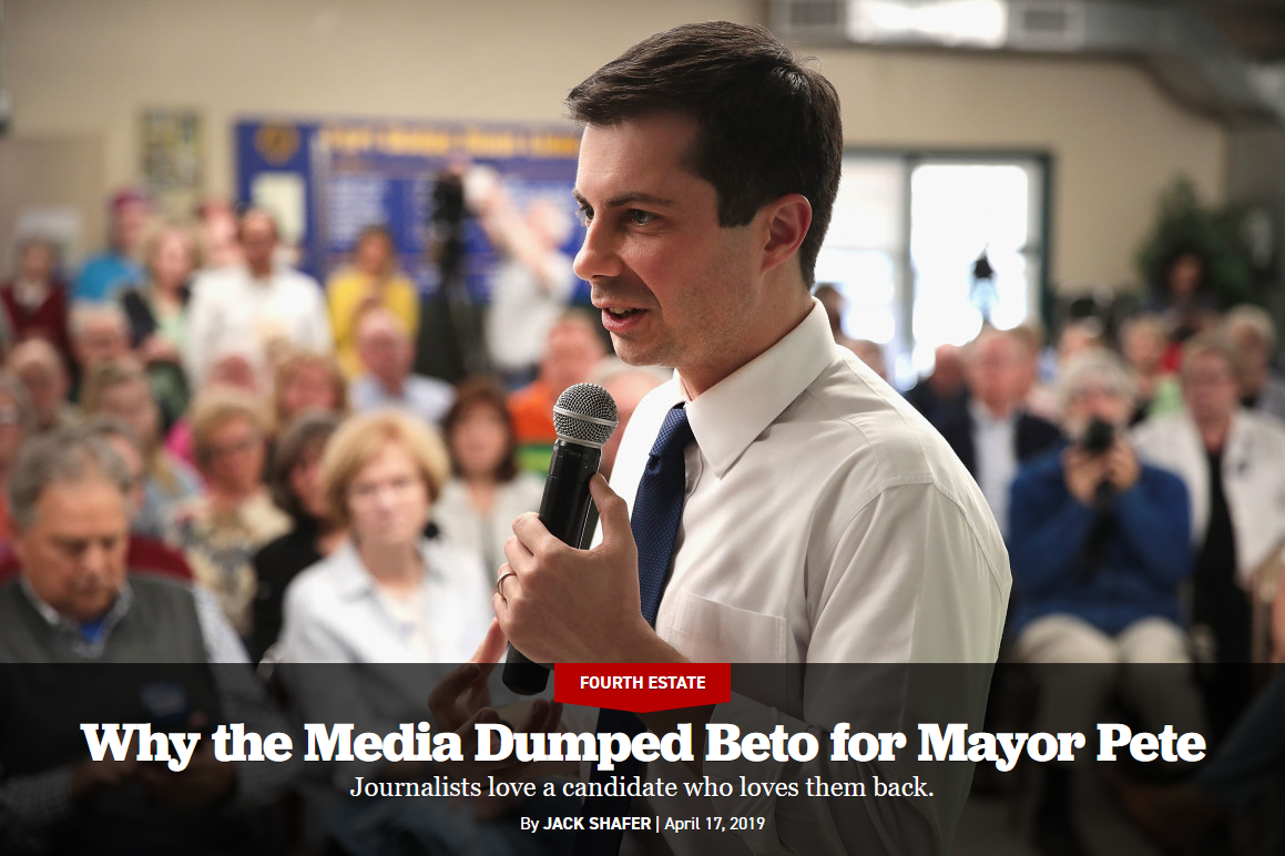 Politico: Why the Media Dumped Beto for Mayor Pete