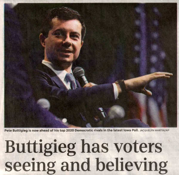 USA Today: Buttigieg Has Voters Seeing and Believing