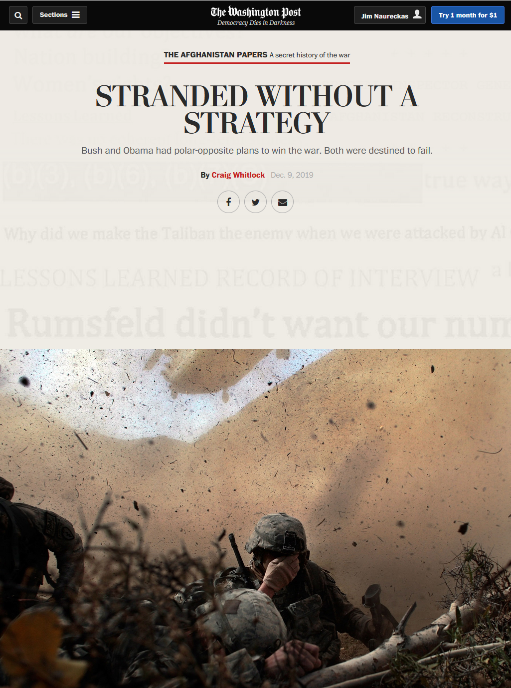 WaPo: Stranded Without a Strategy