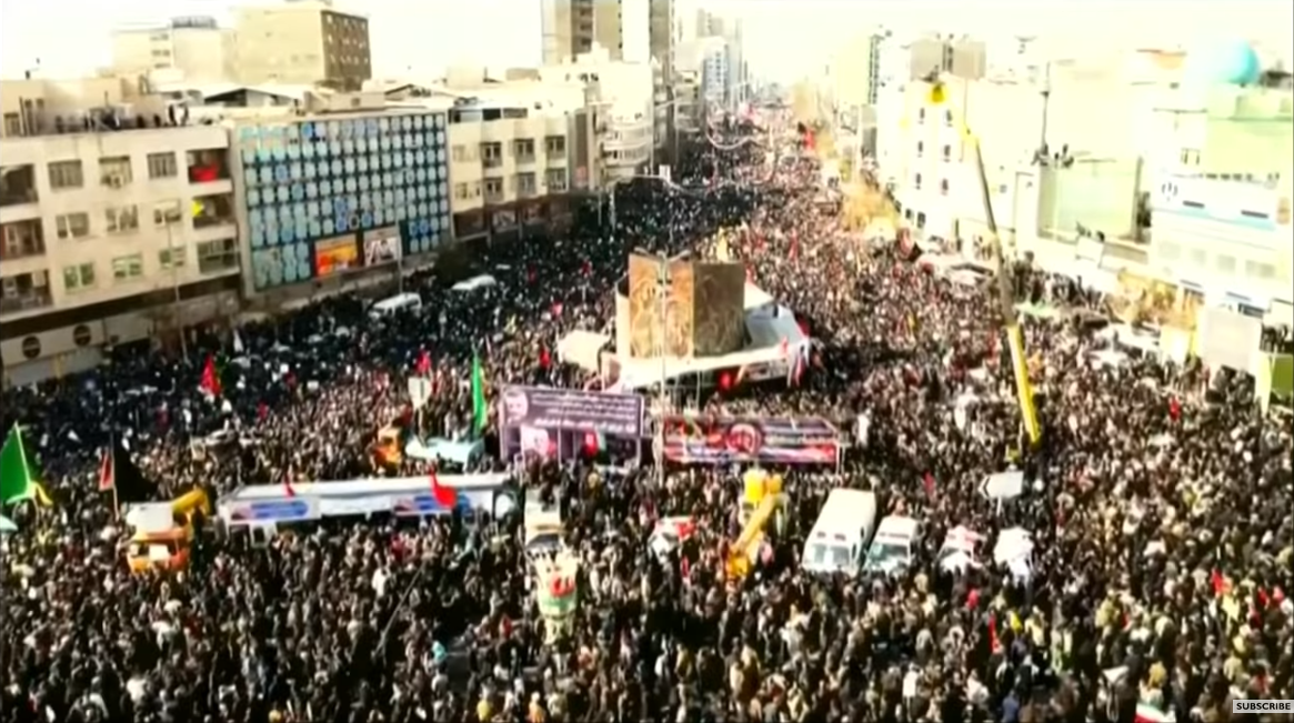 BBC footage of Qassem Soleimani funeral