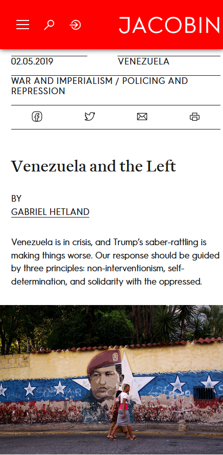 Jacobin: Venezuela and the Left: