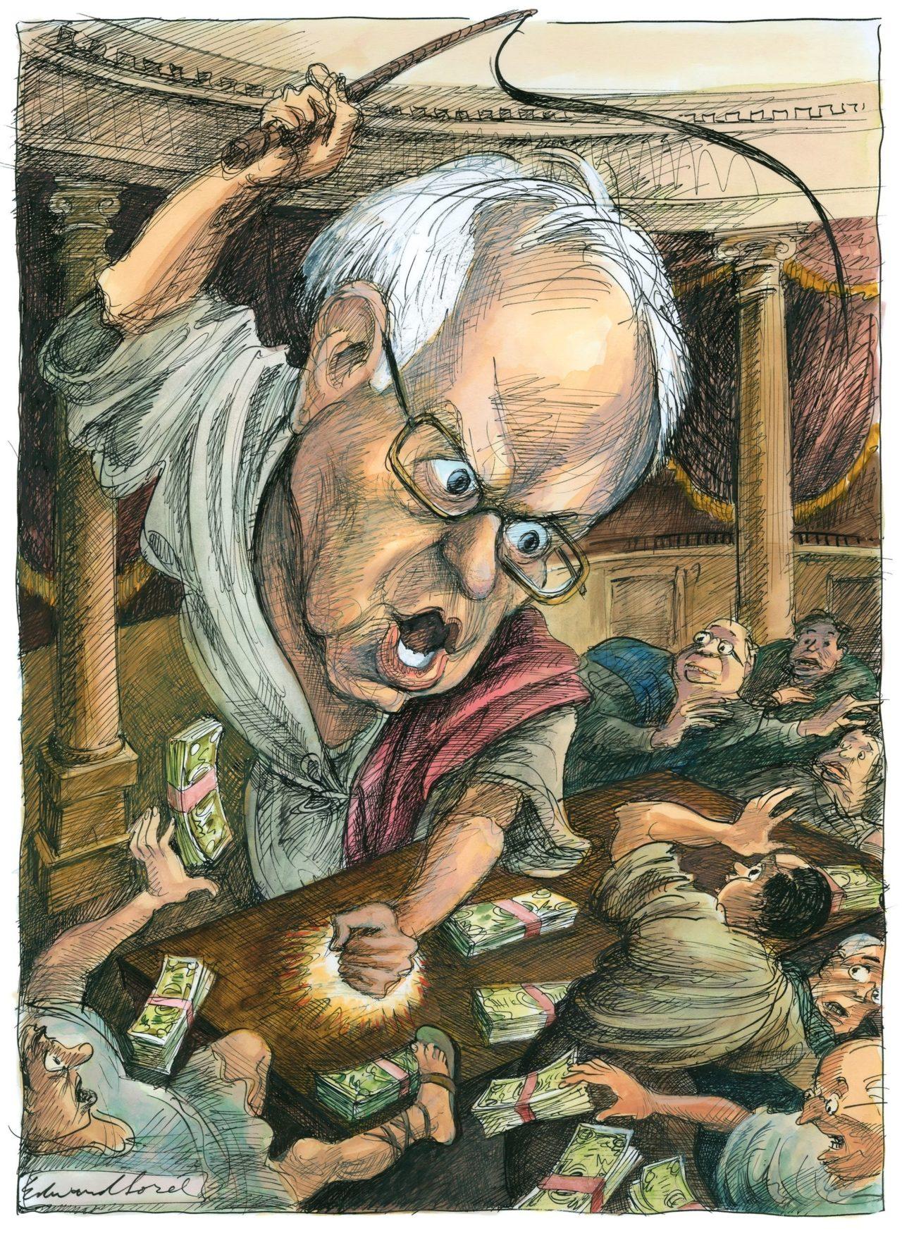 New Yorker depiction of Bernie Sanders