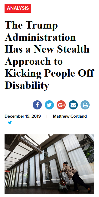 Talk Poverty: The Trump Administration Has a New Stealth Approach to Kicking People Off Disability