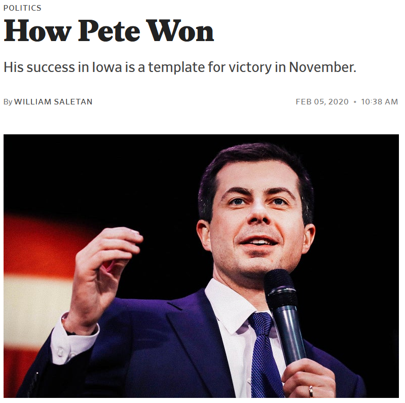 Slate: How Pete Won