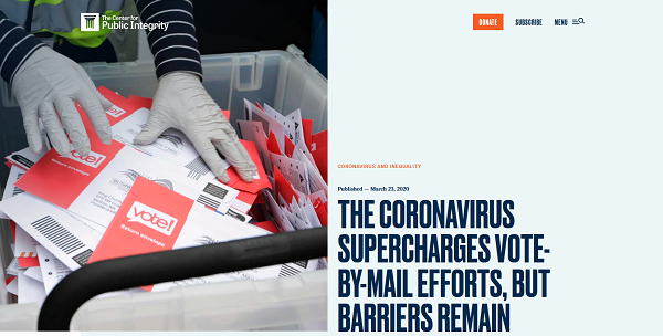 CPI: The coronavirus supercharges vote-by-mail efforts, but barriers remain
