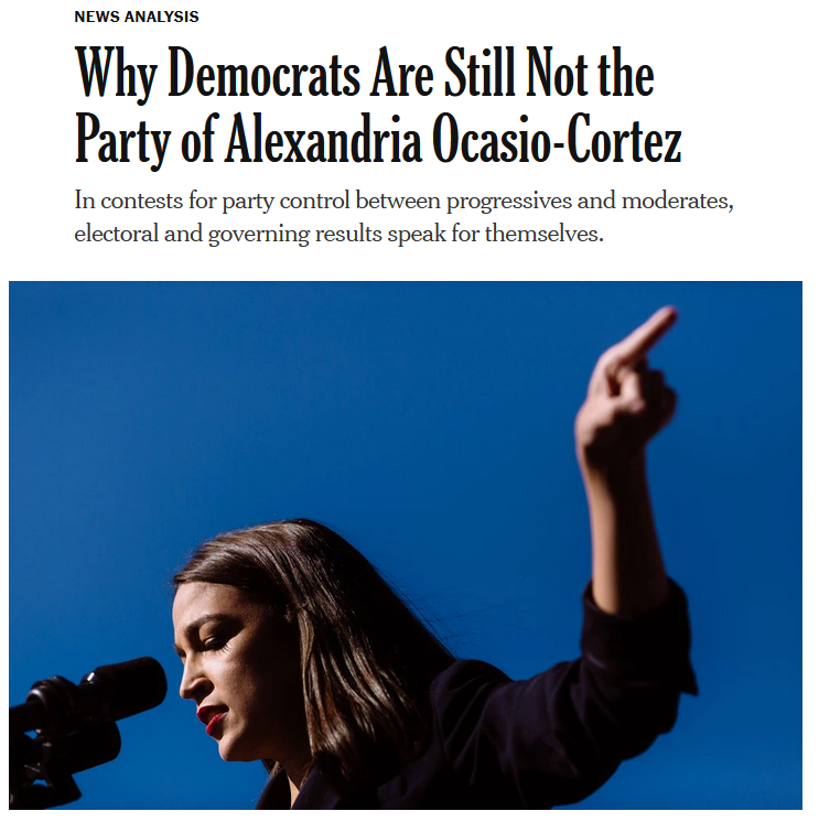 NYT: Why Democrats Are Still Not the Party of Alexandria Ocasio-Cortez