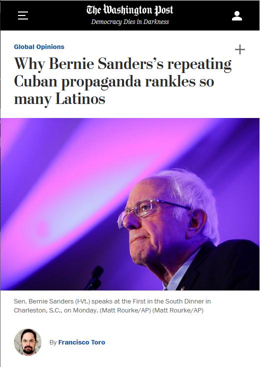 WaPo: Why Bernie Sanders's repeating Cuban propaganda rankles so many Latinos