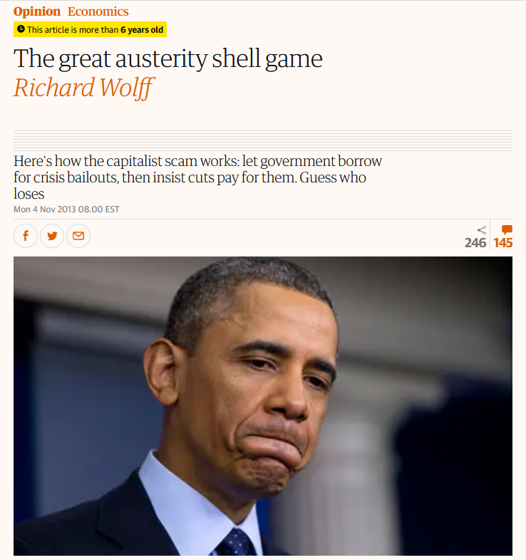 Guardian: The Great Austerity Shell Game
