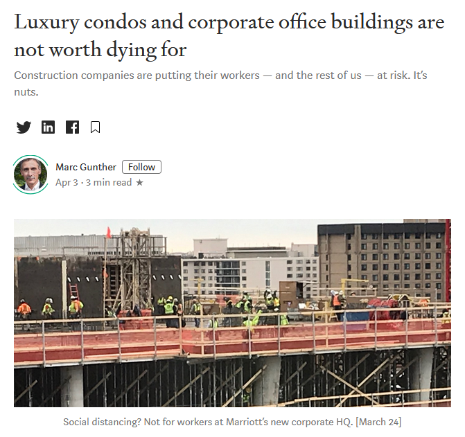 As Construction Continues Amidst Covid-19 In DC Area