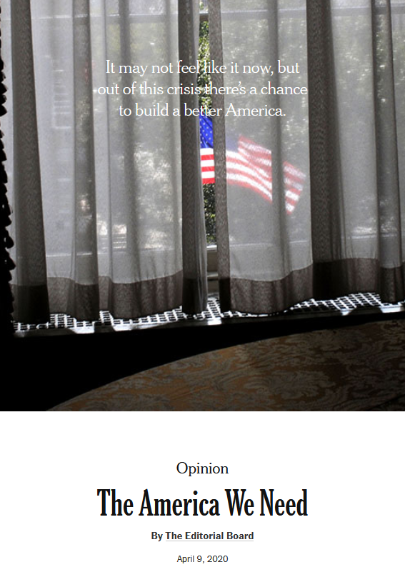 NYT: The America We Need