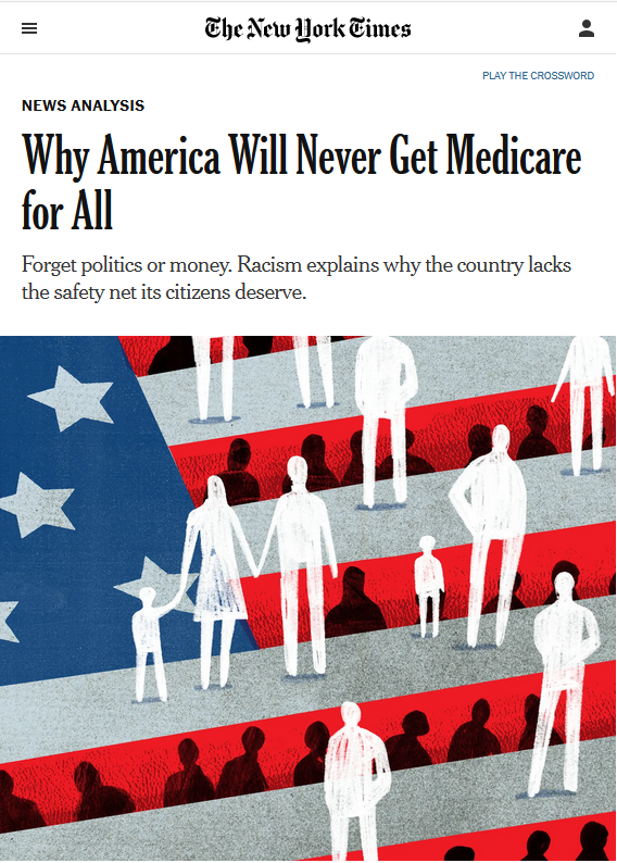 NYT: Why America Will Never Get Medicare for All