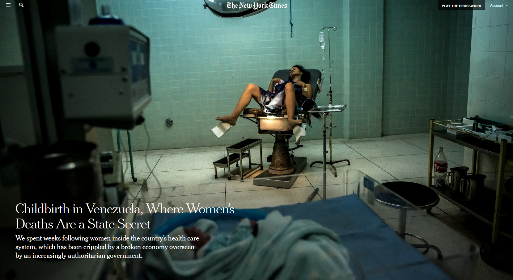 NYT: Childbirth in Venezuela, Where Women's Deaths Are a State Secret