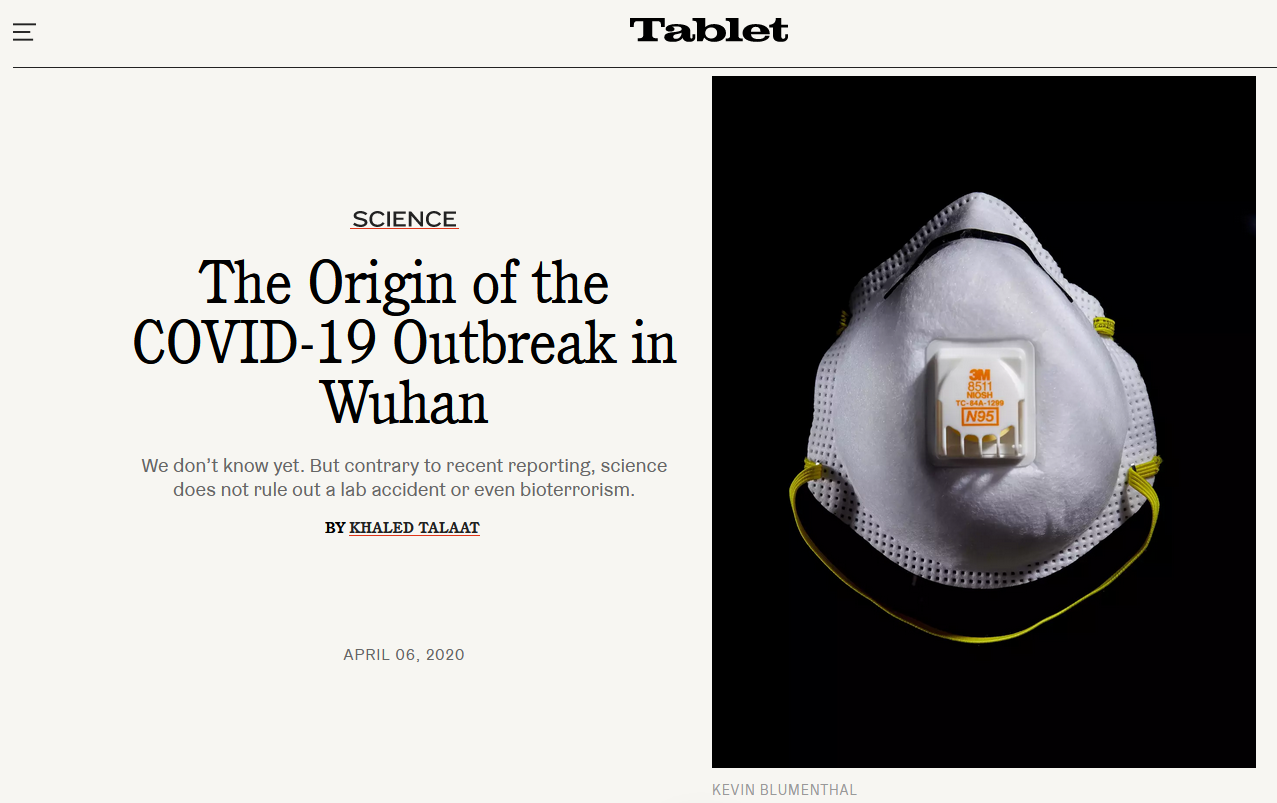 Tablet: The Origin of the COVID-19 Outbreak in Wuhan