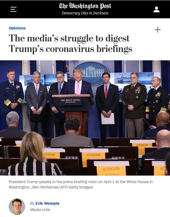 WaPo: The media's struggle to digest Trump's coronavirus briefings