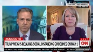 Jake Tapper and Michelle Lujan Grisham
