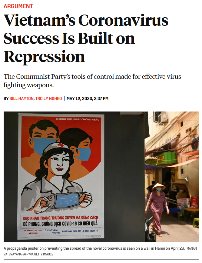 Foreign Policy: Vietnam's Coronavirus Success Is Built on Repression