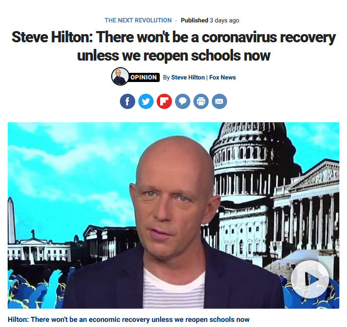 Fox News: There won't be a coronavirus recovery unless we reopen schools now