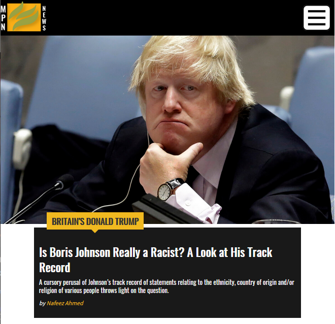 Mint: Is Boris Johnson Really a Racist? A Look at His Track Record