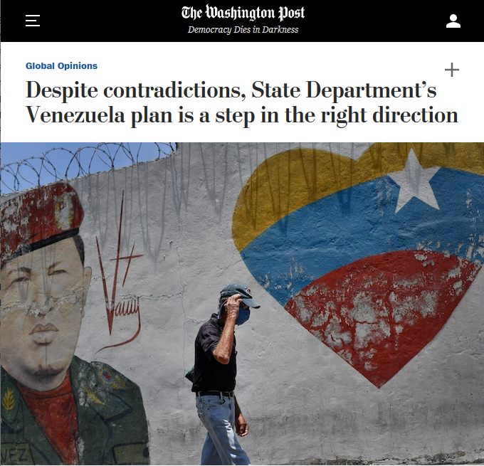 WaPo: Despite contradictions, State Department's Venezuela plan is a step in the right direction